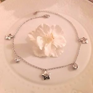 Jewelry - NEW S925 Flowers n Sparkles Anklet or Bracelet